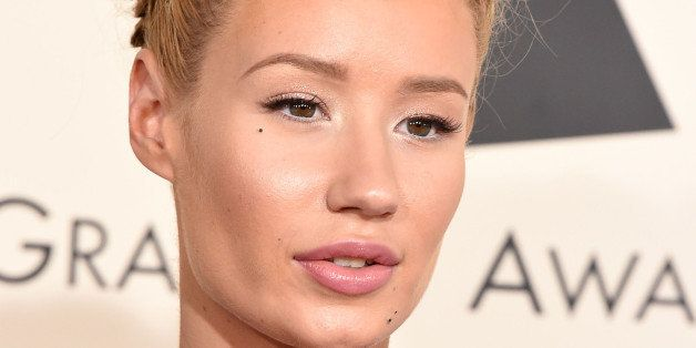 LOS ANGELES, CA - FEBRUARY 08:  Iggy Azalea arrives at the The 57th Annual GRAMMY Awards on February 8, 2015 in Los Angeles,
