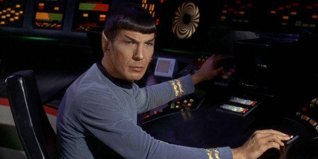 LOS ANGELES - SEPTEMBER 15: Leonard Nimoy as Mr. Spock in the STAR TREK episode, 'Charlie X.'  Season 1, episode, 2.  Origina