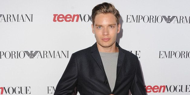 LOS ANGELES, CA - SEPTEMBER 26:  Dominic Sherwood arrives at the Teen Vogue Young Hollywood Party on September 26, 2014 in Lo