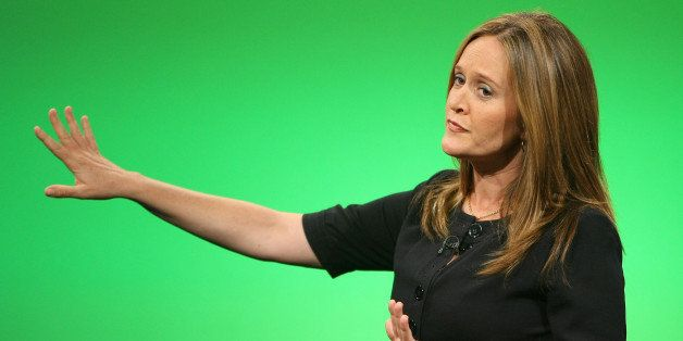 ST. PAUL, MN - SEPTEMBER 02:  Correspondent Samantha Bee of Comedy Central's 'The Daily Show with Jon Stewart' tapes 'The Dai