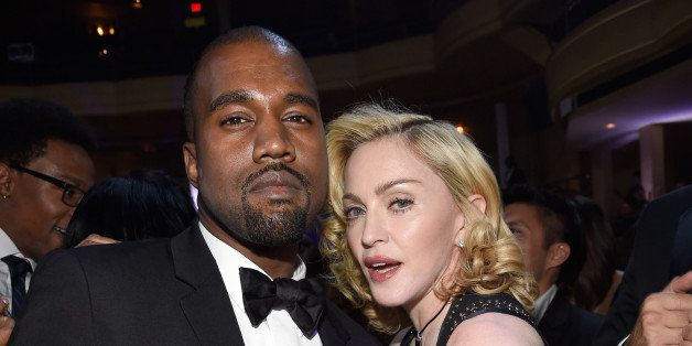 NEW YORK, NY - OCTOBER 30:  (Exclusive Coverage) Kanye West and Madonna attend Keep A Child Alive's 11th Annual Black Ball at
