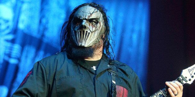 "Mick Thomson of the band Slipknot performs in concert during their ""Prepare For Hell Tour 2014"" at the Royal Farms Arena"