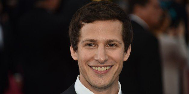 Andy Samberg poses on the red carpet for the 87th Oscars on February 22, 2015 in Hollywood, California. AFP PHOTO / MLADEN AN