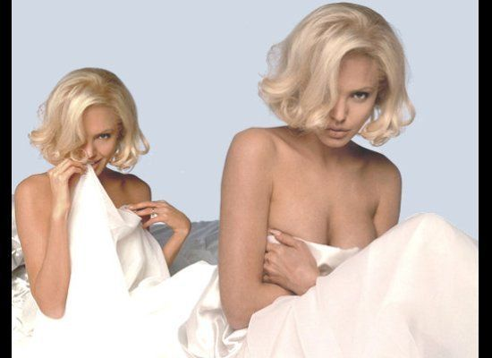 Dressed up like Marilyn in promotional images for 'Life or Something Like It'