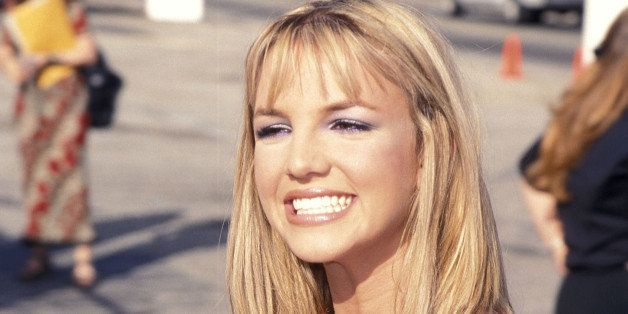 Singer Britney Spears attends the First Annual Teen Choice Awards on August 1, 1999 at The Barker Hangar, Santa Monica Air Ce