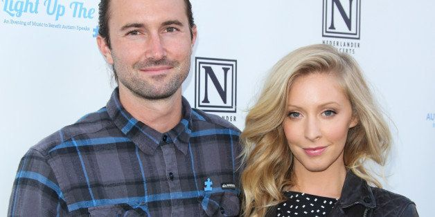 LOS ANGELES, CA - APRIL 05:  Recording Artists Leah Felder (R) and Brandon Jenner (L) attend the 2nd Light Up The Blues conce