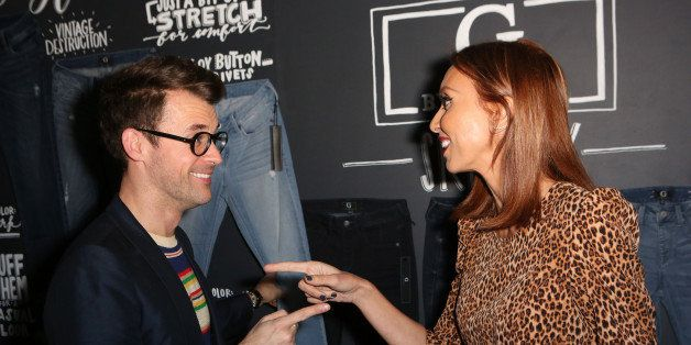 WEST HOLLYWOOD, CA - FEBRUARY 19:  (L-R) Television Personality Brad Goreski and Television Personality Giuliana Rancic atten