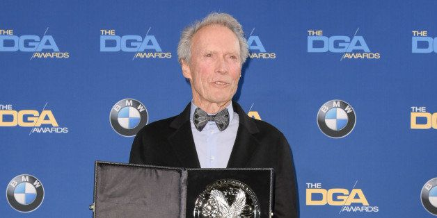 Clint Eastwood attends the Press Room at the 67th Annual DGA Awards on Saturday, Feb. 7, 2015, in Los Angeles. (Photo by Rich