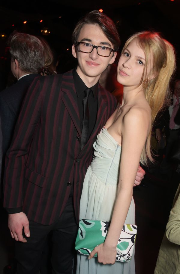 Isaac Hempstead-Wright and Nell Tiger Free.