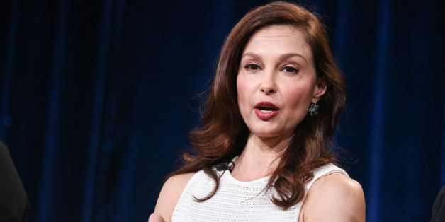 """Ashley Judd speaks on stage during the Independent Lens """"A Path Appears"""" panel at the PBS 2015 Winter TCA on Tuesday, Jan. 20"""