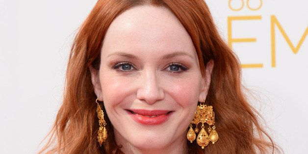 Christina Hendricks arrives at the 66th Annual Primetime Emmy Awards at the Nokia Theatre L.A. Live on Monday, Aug. 25, 2014,