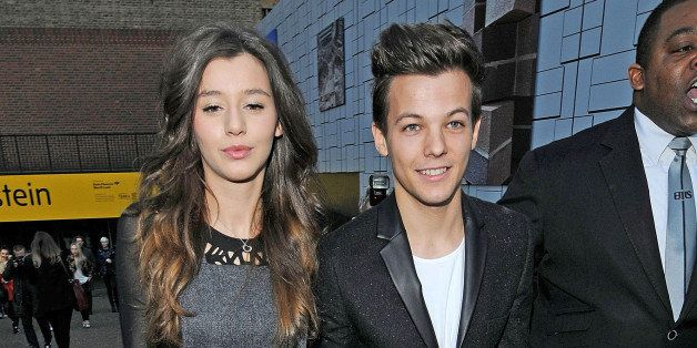 LONDON, UNITED KINGDOM - FEBRUARY 17: Louis Tomlinson and Eleanor Calder are seen on February 17, 2013 in London, United King
