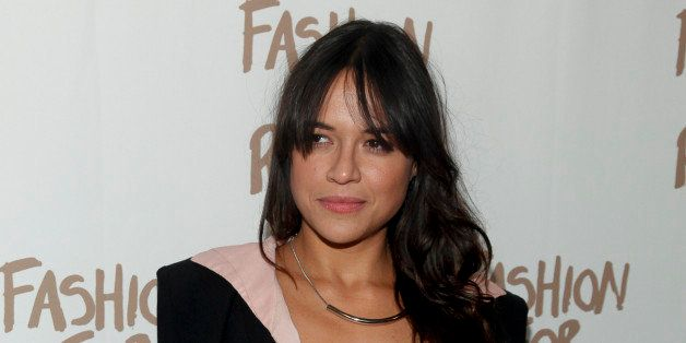 Michelle Rodriguez attends Naomi Campbell's Fashion For Relief during Mercedes-Benz Fashion Week Fall 2015 at The Theater at