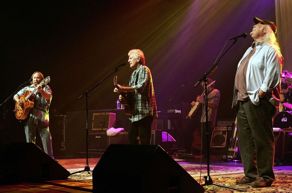 AMSTERDAM, NETHERLANDS:  Crosby, Stills and Nash perform in Amsterdam, 05 June 2005. The famous American band of David Crosby
