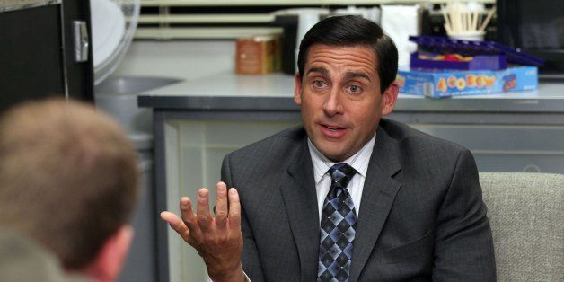THE OFFICE -- 'Counseling' Episode 702 -- Pictured: Steve Carell as Michael Scott -- Photo by: Chris Haston/NBC/NBCU Photo Ba