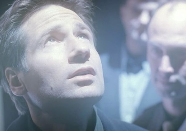 Mulder gets abducted by aliens. This marked the end of Duchovny's regular appearances on the show.