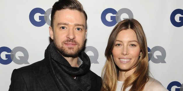 NEW YORK, NY - NOVEMBER 11:  (Exclusive Coverage) Musician/actor Justin Timberlake (L) and actress Jessica Biel attend the GQ