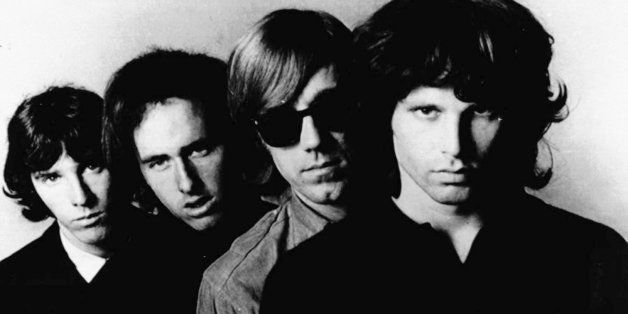 FILE--Undated file photo shows the Rock-band 'The Doors' : John Densmore, Robbie Krieger, Ray Manzarek and Jim Morrison. (fro