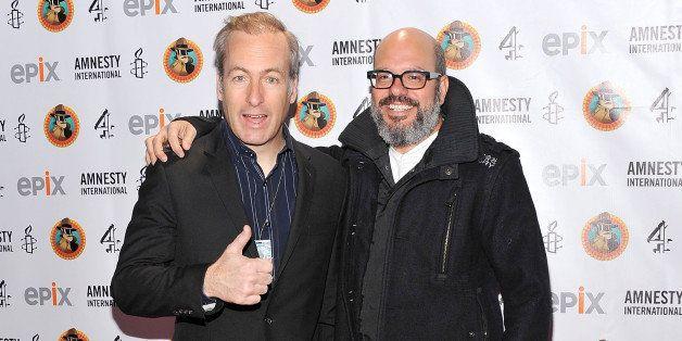 NEW YORK, NY - MARCH 04:  Actors Bob Odenkirk (L) and David Cross attend Amnesty International's Secret Policeman's Ball 2012
