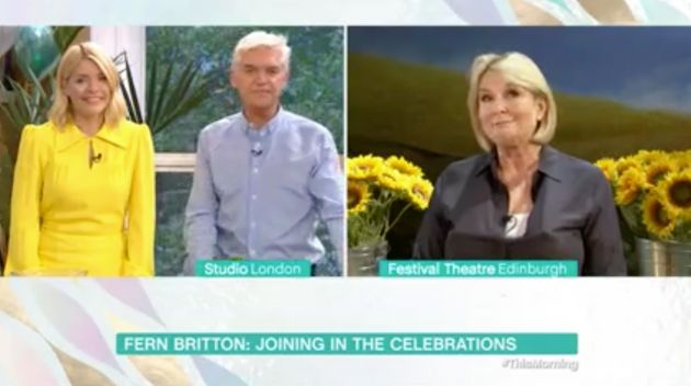 Fern Britton appeared via satellite link to celebrate This Morning's 30th
