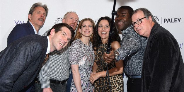 NEW YORK, NY - APRIL 07:  Timothy Simons, Gary Cole, Matt Walsh, Anna Chlumsky, Julia Louis-Dreyfus, Sam Richardson and  Kevi