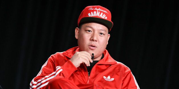 "Eddie Huang speaks on stage during the ""Fresh Off the Boat"" panel at the Disney/ABC Television Group 2015 Winter TCA on Wedne"