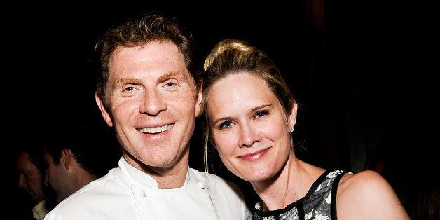 NEW YORK, NY - JUNE 06:  Bobby Flay and Stephanie March attend The Belmont Stakes Charity Celebration Honoring Bobby Flay at