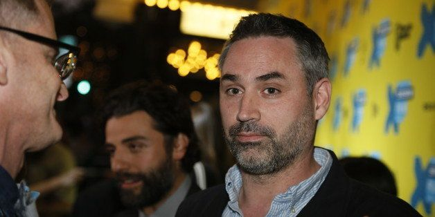 """Director/screenwriter Alex Garland walks the red carpet for """"Ex Machina"""" during the South by Southwest Film Festival on Satur"""