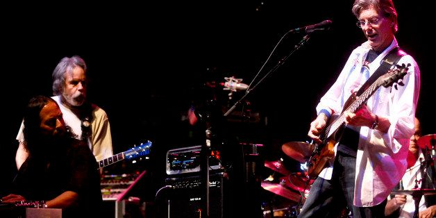 ** FILE ** In this Feb. 4, 2008 file photo, Phil Lesh, right, performs during a fundraising concert  in San Francisco while G