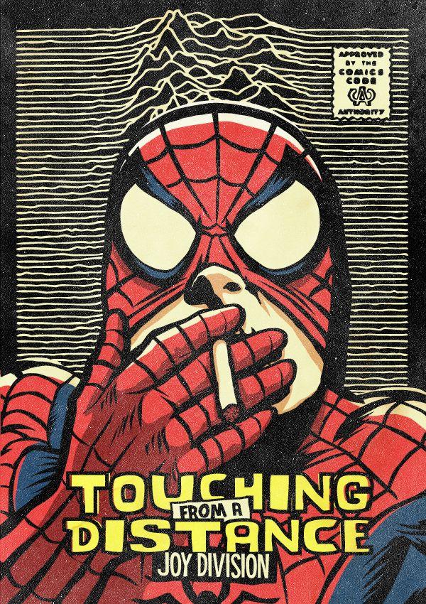 O Ian Curtis με την μάσκα του ανθρώπου-αράχνη
