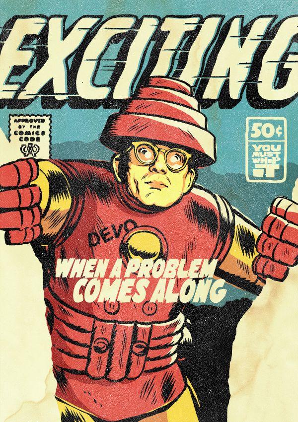 O Mark Mothersbaugh των Devo ως, περίπου, Iron Man