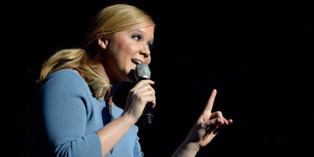 LAS VEGAS, NV - JANUARY 09:  Honoree Amy Schumer accepts the Breakthrough Award for Comedy onstage at the Variety Breakthroug