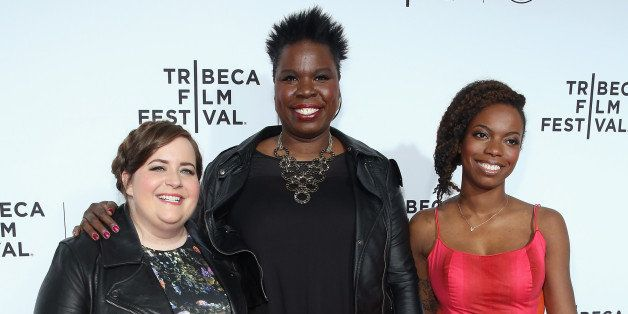 NEW YORK, NY - APRIL 15:  Aidy Bryant, Leslie Jones and Sasheer Zamata attend the 2015 Tribeca Film Festival Opening Night Ga