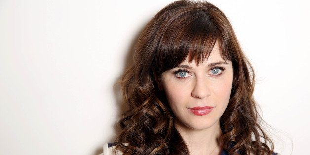 Zooey Deschanel poses for a portrait in Los Angeles on Wednesday, April 9, 2014. Deschanel collaborated with designer Tommy H