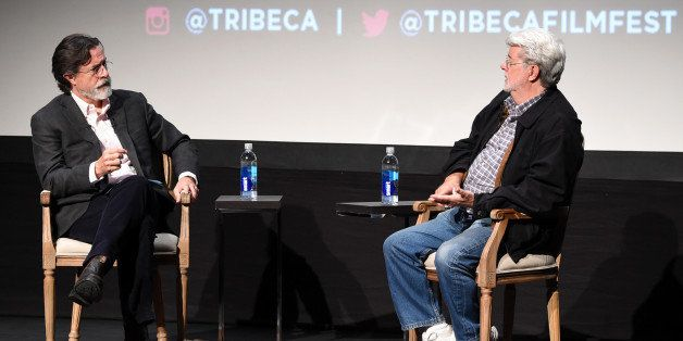 c84b1c1043 9 Tidbits From George Lucas  Chat With Stephen Colbert At The Tribeca Film  Festival