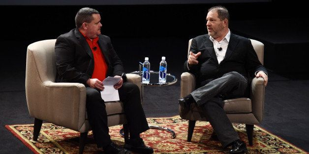 NEW YORK, NY - APRIL 18:  Mark Fleming and Harvey Weinstein attend Tribeca Talks: Harvey Weinstein In Coversation during the