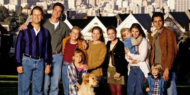 UNITED STATES - SEPTEMBER 27:  FULL HOUSE - On location in San Francisco - Season Eight - 9/27/94, Pictured, from left: Dave