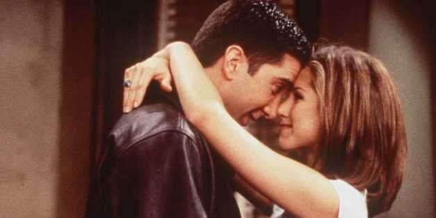 1996 DAVID SCHWIMMER AND JENNIFER ANISTON OF THE TV HIT SERIES 'FRIENDS'