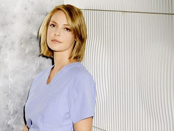 THEN: Katherine Heigl's star power was uncovered as Izzie Stevens, reluctant model turned surgeon at Seattle Grace, and she w