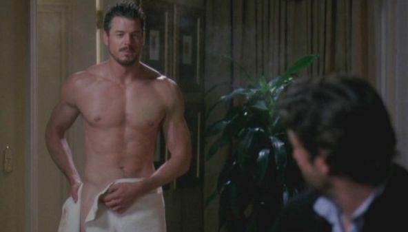 THEN: Not many actors can boast a 'water-cooler' moment, but that was what Eric Dane provided with his first appearance on 'G