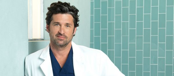 THEN: Dr Shepherd was the McDreamy of the hospital, the target of many a young intern's affections, but really only there for
