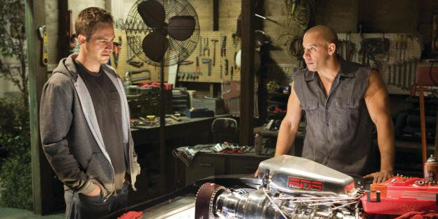 "In this film publicity still released by Universal Pictures, Paul Walker, left, and Vin Diesel, are shown in a scene from ""Fa"