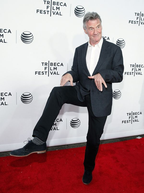 Michael Palin on the red carpet.