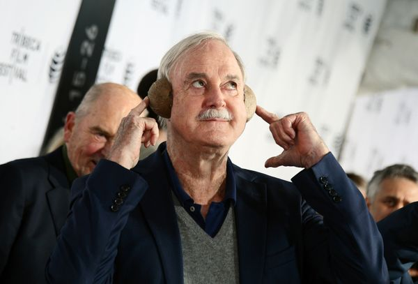 Actor John Cleese attends the 'Monty Python and the Holy Grail' special screening during the 2015 Tribeca Film Festival.
