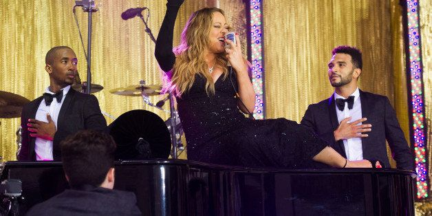 "Mariah Carey performs on NBC's ""Today"" show on Friday, May 16, 2014 in New York. (Photo by Charles Sykes/Invision/AP)"