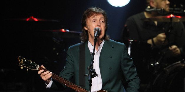 TOKYO, JAPAN - APRIL 28:  Paul McCartney performs live at the Budokan on April 28, 2015 in Tokyo, Japan.  (Photo by Ken Ishii