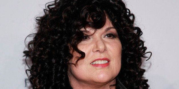 "Ann Wilson of Heart arrives at the Elton John AIDS Foundation's 12th Annual ""An Enduring Vision"" benefit gala at Cipriani Wal"