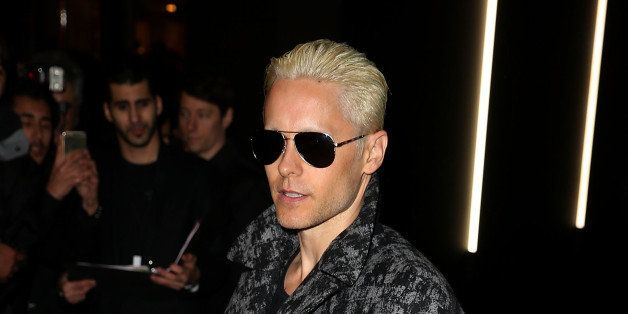 PARIS, FRANCE - MARCH 06:  Jared Leto attends the   Balenciaga show during Paris Fashion Week Fall Winter 2015/2016 on March