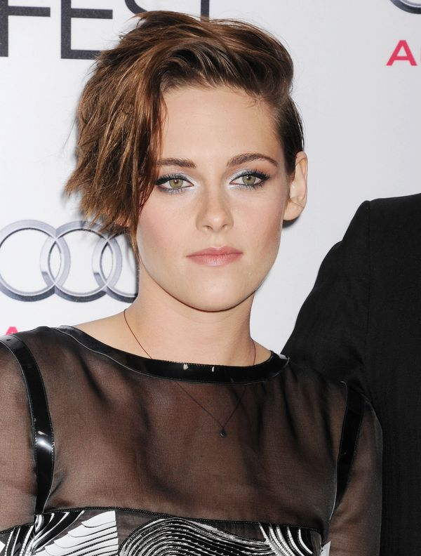 Perfectly pretty and edgy at the same time, especially with her sideswept hair.