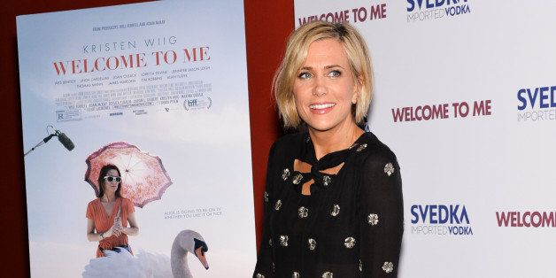 """Actress Kristen Wiig attends a special screening of """"Welcome To Me"""" at the Sunshine Landmark on Wednesday, April 29, 2015, in"""